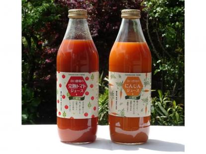 谷口農場の完熟トマトジュース&にんじんジュース1ケース